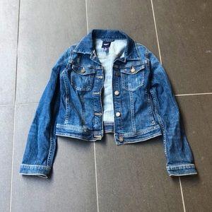 Girls GAP kids denim jacket.